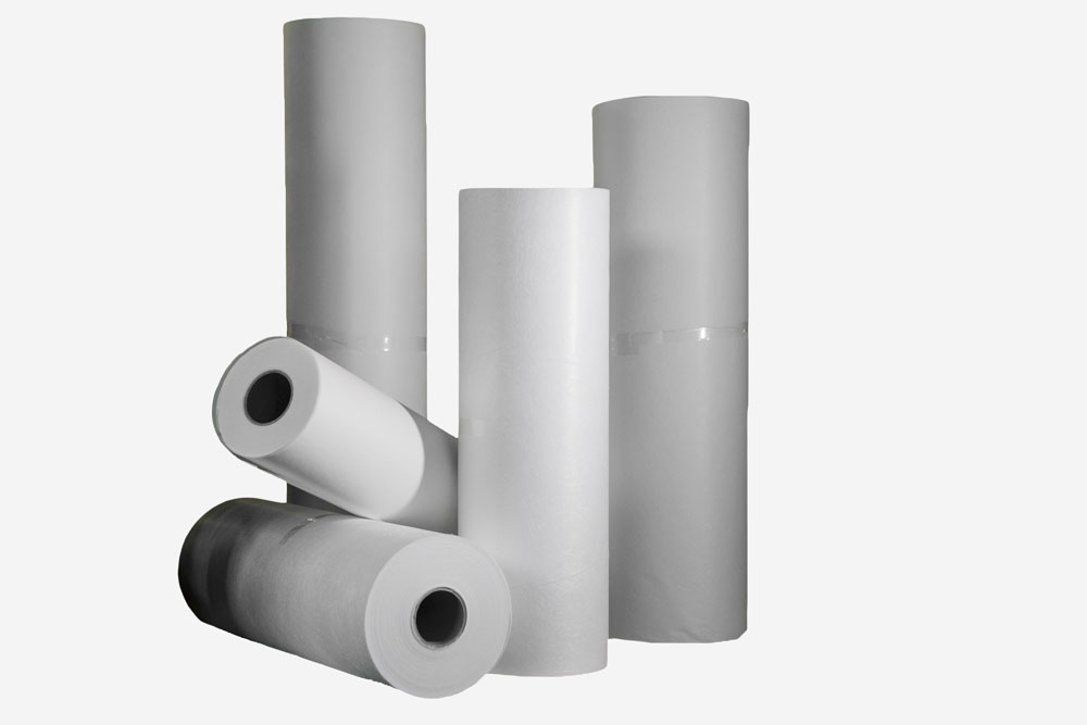 Rolls of non-woven fabric